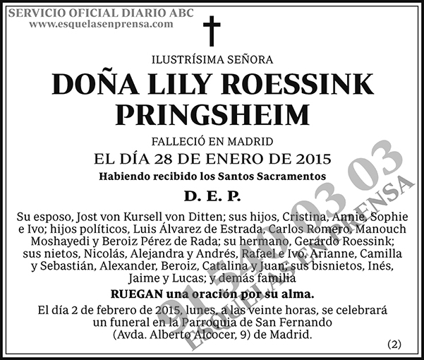 Lily Roessink Pringsheim